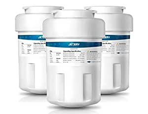 3 Pack GE MWF Refrigerator Water Filter Replacement, JETERY Smartwater Fridge Cartridge Compatible for GE MWFA, MWFP, GWF, GWFA, GWF06