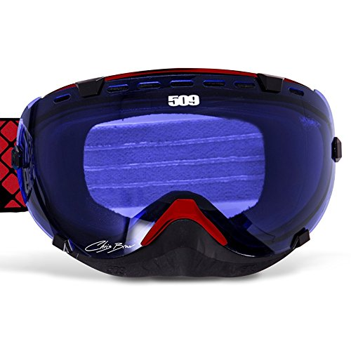 509 Aviator Snow Snowmobile Goggles - Chris Brown Signature - Blue Tint Lens by 509