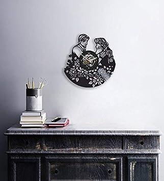 Vinyl Clock, Rapunzel, Cartoon, Disney, Tangled, Wall Decor, Handmade Gift, Modern Art, Gift Ideas For Kids, Handmade Art, Unique Design, Modern Home Decor, Children s Room Decor