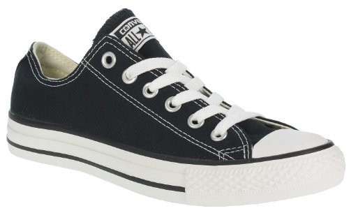 Converse Allstar Damen Herren Core Ox Stoff Sneaker Turnschuhe - Schwarz Einfarbig Leinen, Stoff, EU 37.5