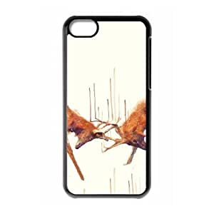 iPhone 5C Phone Case Black Stags Strong ES3TY7839263