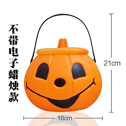 Mjia Lamp Halloween String,Portable Pumpkin Light with Sound Toy, Portable Light Singing Pumpkin Light, Children's Sugar Props, C -