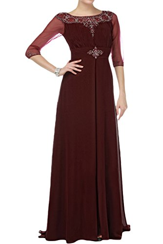 Sunvary Vintage A-line Chiffon Mother of the Bride Dresses with Half Sleeves