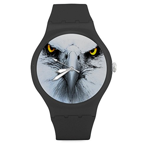american-bald-eagle-face-eyes-unisex-round-rubber-sport-watchwatch-face-diameter-158