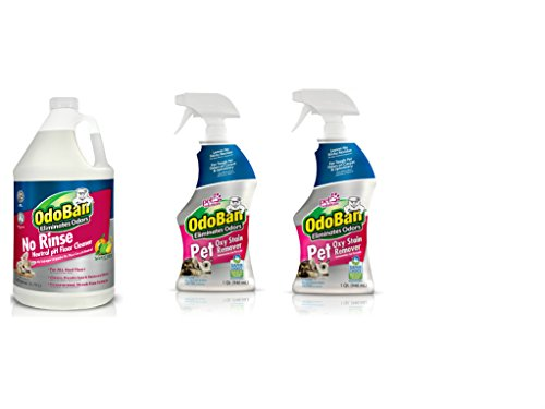 OdoBan Pet Solutions 32oz Spray Bottle 2-Pack and 1 Gal Neutral pH Floor Cleaner Concentrate