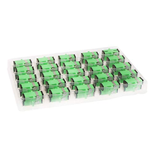 PoityA 200PCS SC/APC Fiber Optical Coupler Flange Single Mode Adapter Quick Connector