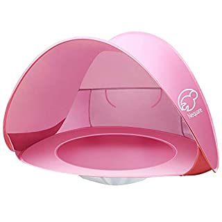NEQUARE Baby Beach Tent, Portable Pop Up Baby Tent, UPF 50+ Summer Sun Shelters Shade, Sunscreen Beach Umbrella Baby Pool for Infant Baby(Pink)