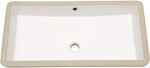 Rectangle Bathroom Sink Undermount – Lordear 28 Undermount Bathroom Sink Rectangular Pure White Vitreous Ceramic Lavatory Vanity Vessel Sinks
