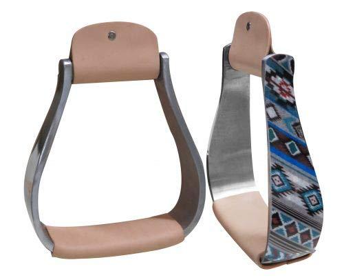 Showman Lightweight Aluminum Stirrups w/Shimmering Navajo Print! New Horse TACK!