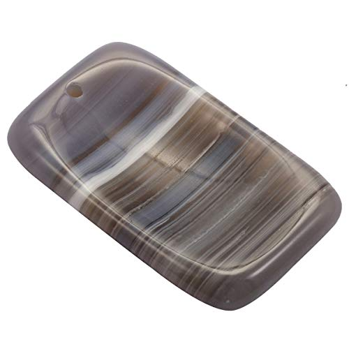 TUMBEELLUWA Healing Crystal Quartz Worry Stone Pendants for Jewelry Making,Oblong Agate(Pack of (Brown Quartz Pendant)