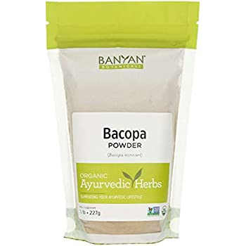 Banyan Botanicals Bacopa Powder, 1/2 Pound - USDA Organic - Bacopa monniera - Ayurvedic Herb for Memory & Focus