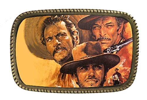 (The Good Bad And The Ugly Cowboy Western Movie Belt Buckle)