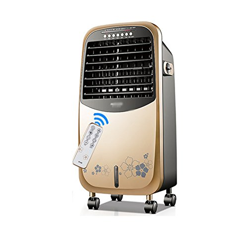 - LHA Fans Air Conditioning Fan Portable Mini Air Conditioner Mute Remote Control - (Gold)