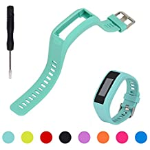 For Garmin Vivosmart HR Activity Tracker Replacement Watch Band - Feskio Adjustable Soft Silicone Replacement Wrist Watch Strap Band Bracelet with Screwdrivers for Garmin Vivosmart HR Smart Watch