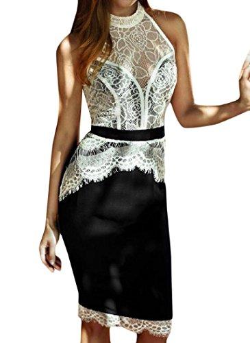 cream and black dress - 9