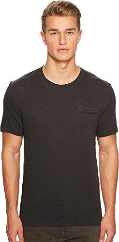 Cashmere Jersey T-shirt (Billy Reid Men's Cotton Cashmere Pocket T-Shirt, Charcoal, M)