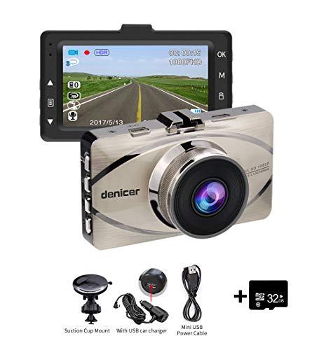 Dash Cam Denicer 1080P Car DVR Dashboard Camera Full HD with 3