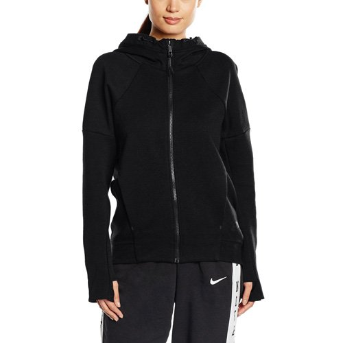 (Nike Sportswear Tech Fleece Women's Full Zip Hoodie Black 806329-010 (Size XS))
