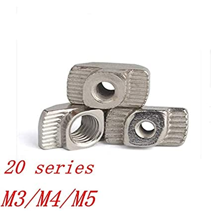 Amazon com: 100Pcs T Nut M3 M4 M5 Nut Hammer Nut Aluminum Connector