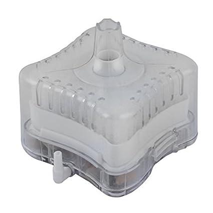 DealMux acuario plástico del tanque de pescados bioquímica carbón activado esquina filtro blanco Borrar