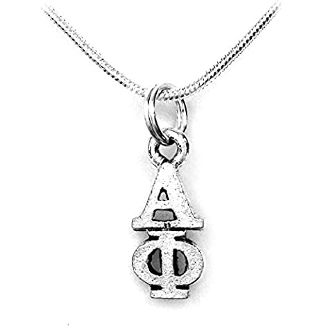 Alpha Phi Silver Color Sorority Standard Lavalier Necklace A Phi (Chief Keef Pendant)