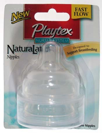 Playtex Drop-ins Naturalatch Silicone Nipple - Fast Flow - 2 Ct (6 Pack)