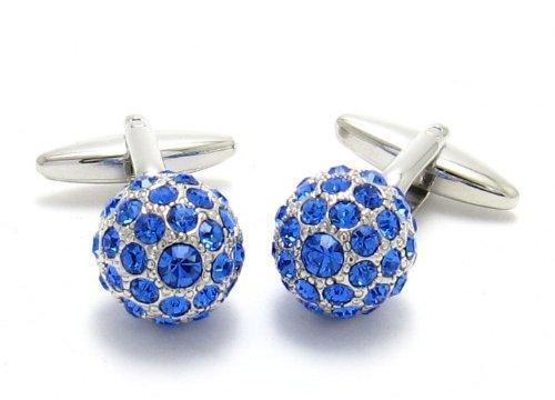 Swarovski Cufflinks Sapphire Blue Ball Cuff Links