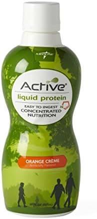Medline ENT693OC Active Liquid Protein Nutritional Supplement, Orange Cream, 32 oz Bottle (Pack of 4)