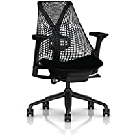 Herman Miller Sayl Task Chair: Tilt Limiter with Seat Angle Adjustment - Adj Lumbar Support - Adj Seat Depth - Fully Adj Arms - Standard Carpet Casters - Black Base & Frame