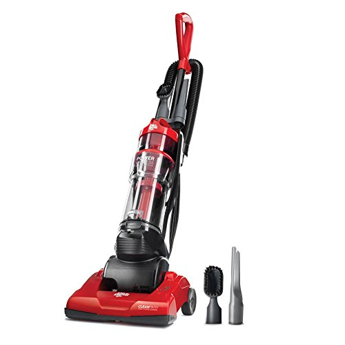 Dirt Devil Upright Vacuum Lightweight Multi Surface Less than 9 lbs. Powerful Suction & Onboard Cleaning Tools. Washable Filter Power Express Compact. Long Cord Perfect for Hardwood & Rugs, Red