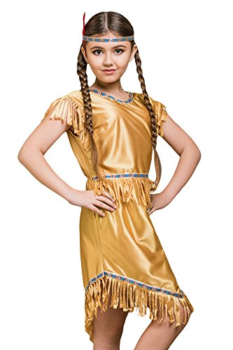 Kids Girls Costume Native American Tribal Indian Birthday Party Fancy Dress Up (3-6 years, (Sacagawea Costumes For Kids)