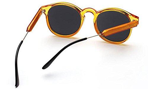 Rond Métallique Cercle et Cadre de Orange du Style en Retro Hommes Steampunk Femmes Lunettes Soleil Polarisées Pour Inspirées P6axnqvvC