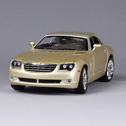 Marrsto 1:18 Chrysler Crossfire Silver Gold Car Diecast High Level Precious Car Toy Model Collecting Car Shape As Gift - Gold Chrysler Model