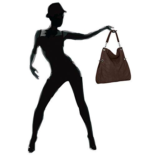 multifonction coloris marron pour femme plusieurs CASPAR l'épaule TS561 porté main Sac chocolat bandoulière à à UO77nSqI4x