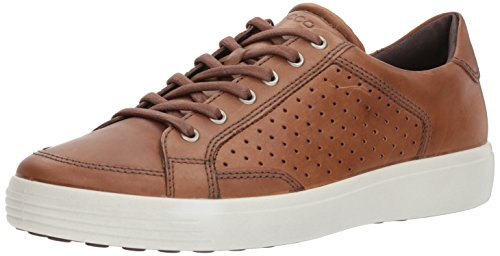 ECCO Men's Soft 7 Sneaker, Whisky Retro Perforated, 46 M EU (12-12.5 US)