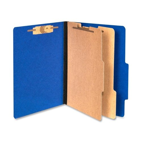 Wholesale CASE of 5 - ACCO Color Coded Top Tab Folders w/ Fasteners-Top-Tab Folders,w/ Fasteners,3'' Exp,Letter,10/BX,Blue