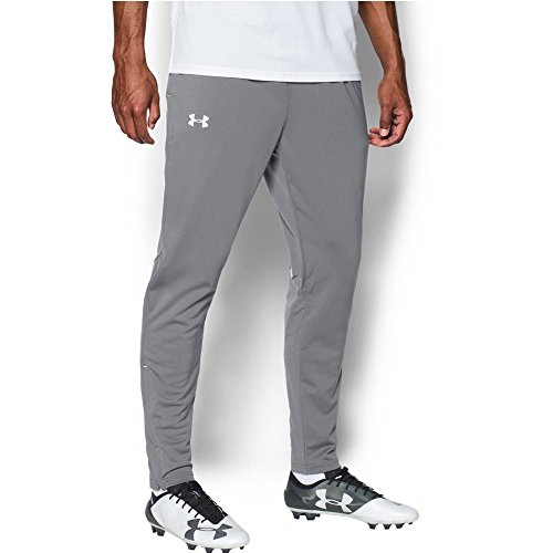 Woven Warm Up Pant - Under Armour Men's Challenger Knit Warm-Up Pants, Graphite/White, Small