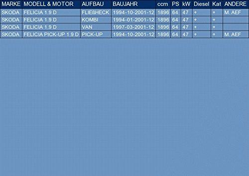 f/ür FELICIA FELICIA PICK-UP 1.9 D FLIE/ßHECK KOMBI VAN PICK-UP 64hp 1994-2001 ETS-EXHAUST 1763 Mitteltopf Auspuff