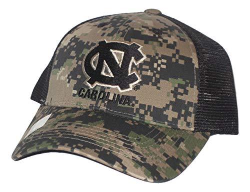 North Carolina Tar Heels Digital Camo Black Mesh Back Adjustable Hat Cap -
