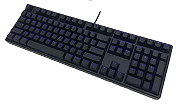 ducky one blue led backlit mechanical keyboard brown cherry mx