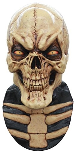 Mask Head Skull Grinning Cream (Morris Skull Mask)