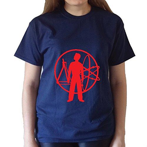 Devo Unisex T-Shirt (XL, NavyBlue)