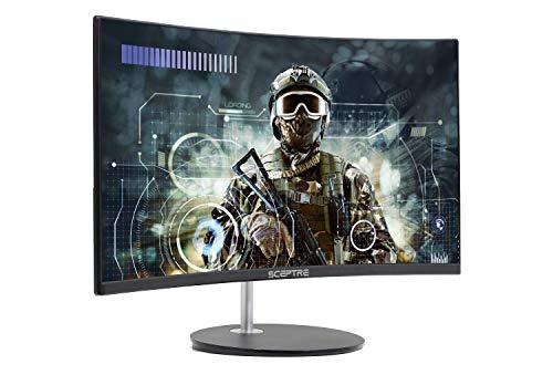 Sceptre 24 Curved 75Hz Gaming LED Monitor Full HD 1080P HDMI VGA Speakers, VESA Wall Mount Ready Metal Black 2019 (C248W-1920RN)