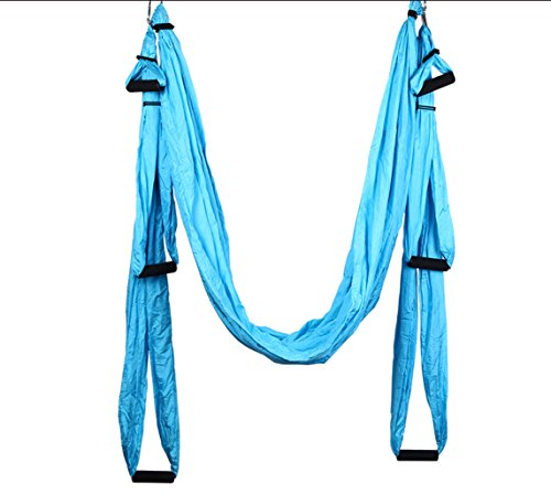 Beyoung Aerial Yoga Swing, Yoga Hammocks, Trapeze Hammock with Extensions Straps, Ultra Strong Swing & Sling & Inversion Tool with 4 Hook/ 6 Soft Grip/ 1 Bag for Air Yoga Inversion Exercises