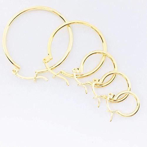 talla 40 37ad4 e6968 Juego de 5 Arracadas lisas - en chapa de oro 22k - detalle ...