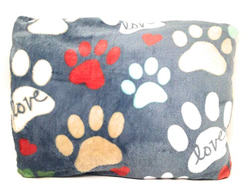 Price comparison product image The Big One Throws, Assorted Designs (Bluish Grey - Paws)