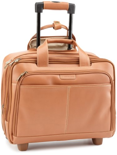 (Hartmann Luggage Belting Leather Expandable Mobile Traveler Office,Natural,One Size )