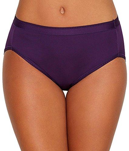 Vanity Fair Women's Comfort Where It Counts Hi Cut Panty 13164, Deep Mulberry, 3X-Large/10