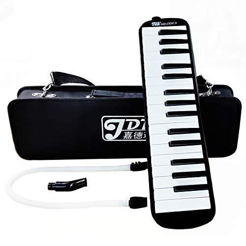 건반 하 모니카 32 키 멜로디 피아노 탁 주 용 파이프 부속 수 용가 입 가방 된 M3202 (블랙) / Keyboard Harmonica 32 Keys Melody Piano Table Play Pipe Standing Song Mouth Bag With M3202 (Black)