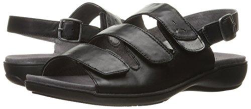 Trotters Black Kendra Wedge Women's Sandal rxXZrf